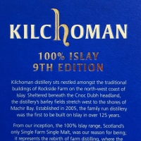 """キルホーマン 2009 - 2019、9年 50% """"100% ISLAY"""" 9th エディション"""