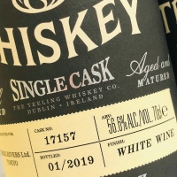 ティーリングウイスキー 2003 - 2019、15年 56.6% シングルカスク 白ワインカスク for スリーリバース