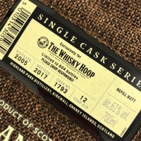 ハイランドパーク 2005 - 2017、12年 61% The Whisky Hoop向け cask#1793